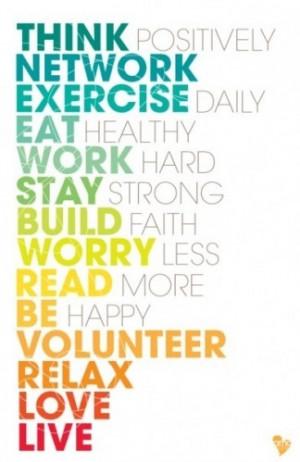 be happy, eat, exercise, happy, life, live, love, mari bazmani ...