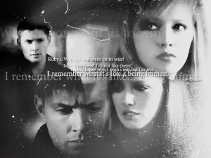 Supernatural Ruby and Dean