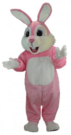 Pink Rabbit Mascot Costume