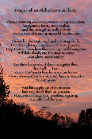 Bonnie T. Barry › Portfolio › Prayer of an Alzheimer's Sufferer