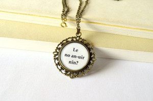 Elvish Love Message Tolkien Quote Necklace. Valentine's LOTR jewelry ...