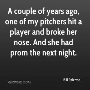... hit a player and broke her nose. And she had prom the next night