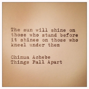 Chinua Achebe Things Fall Apart Quote by farmnflea on Etsy, $13.00