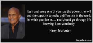 More Harry Belafonte Quotes