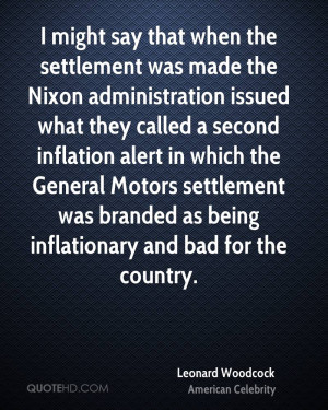 might say that when the settlement was made the Nixon administration ...