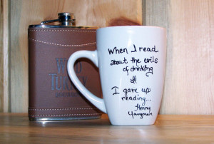 LSW- Famous Whiskey Quotes Coffe Mug- Henny Youngman