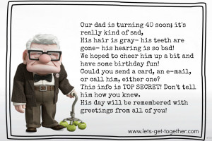 funny 40th birthday poems If you are looking for funny 40th birthday ...
