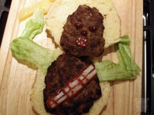 Vh Funny Chewbacca Burger Star Wars