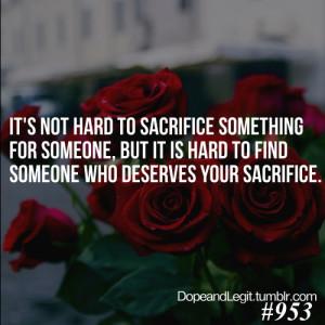 Sacrifice Love Quotes Tumblr