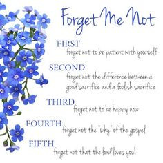 forget me not...Rachel Ledford More