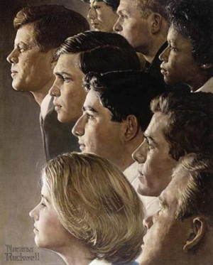 The Peace Corps - JFK's Bold Legacy by Norman Rockwell