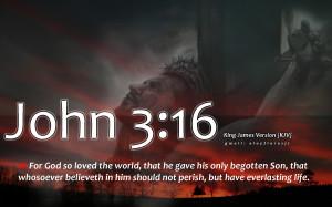 john 3 16 bible verse with cross hd wallpaper