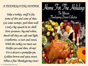 Thanksgiving Dinner : Thanksgiving Poems | Thanksgiving 2013