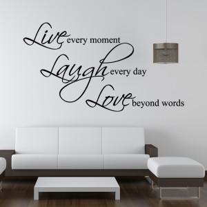 tweet live laugh love wall sticker wall stickers from abode wall art