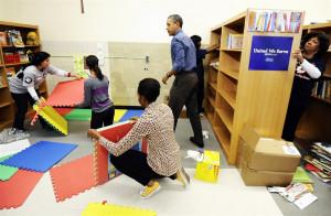 brooklynmutt:FEBRUARY 27: President Barack Obama holds Terrell ...