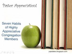 appreciating your pastor