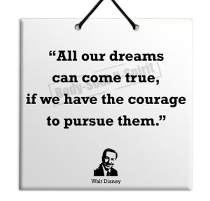 Walt Disney - Dreams Can Come True - Quote Ceramic Sculpture Wall ...