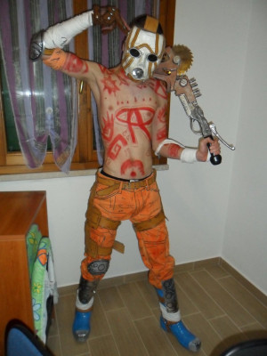 Cosplay:Psycho from Borderlands 2 in his true form by dudeduke94
