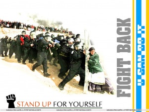 Motivational Wallpaper on Fight Back