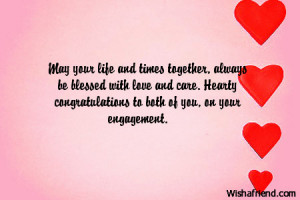 Engaged Couple Quotes With love and care.
