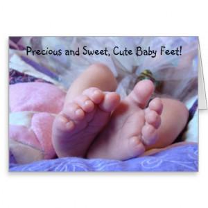Precious & Sweet Cute Baby Feet! Cards Baby toes
