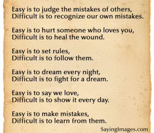 Easy Is To Judge The Mistakes Of Others: Quote About Easy Is To Judge ...