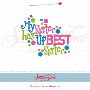 5734 Sayings : My Sister Has the Best Sister 5x7