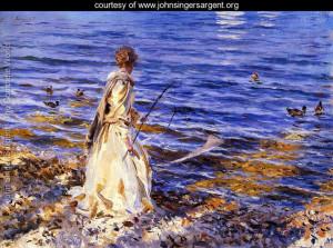 Girl Fishing - Reproduction - www.johnsingersargent.org - Large