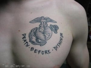 Death Before Dishonor Tattoo Marine Corps Tattoos Sgt Grit Picture ...