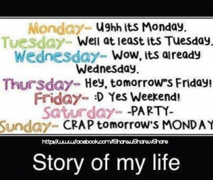 Story of My Life ~ Funny Love Quote