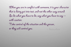 Conflict quote, Character quote by Dessie Urbano