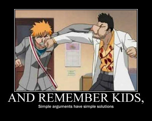 funny bleach motivational posters