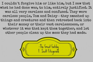 Great gatsby quotes Read the book before the movie carelessness daisy ...