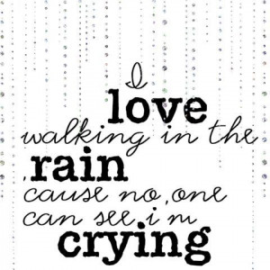 love walking in the rain - Freebie wordart - DigiScrapDepot.com