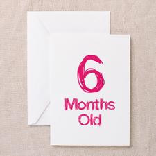 Months Old Baby Milestones Greeting Card for