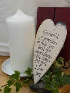 Handmade Wooden plaque Godchild by bloominfab on Etsy, £12.00 or www ...