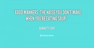 Funny Quotes About Manners