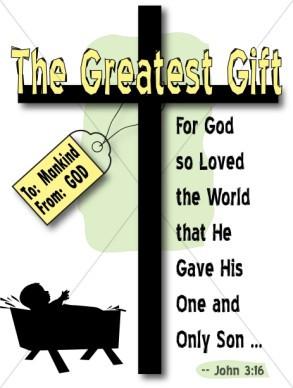 Christian Christmas Word Art
