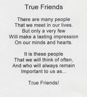 true friends Poems About True Friends