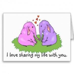 Elephants in love cute