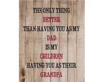 ... grandpa, grandpa quote canvas, grandparents day, fathers day print