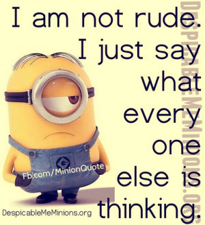 Most popular tags for this image include minions rude cute quotes