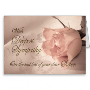 Download Sympathy card on the death of a sister