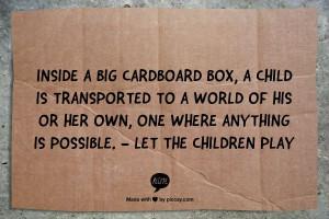 Cardboard box creativity