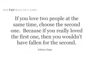 If you have two people at the same time , choose the second one