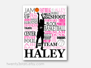 Sports Quotes For Girls Basketball Girl's basketball typography