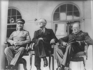 The Big Three at Tehran Conference, 1943 (World War II).