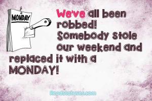Funny Monday Facebook Status