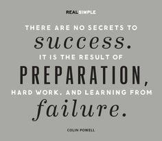... Preparing Quotes, Secret To Success, Colin Powell, Quotes Life, Quotes
