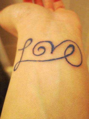 Short Love Quote Tattoo On Wrist